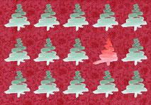 Grußkarte Tanne Weihnachten