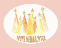 Grußkarte Frohe Weihnachten Sterne