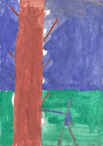 Morihei Ueshiba und der Baum