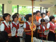 ほしまつりでの伊万里合唱団と少年少女合唱団のミニコンサート(H28.7.9)