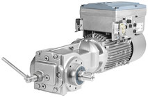 SIMOGEAR EHB Kegelradgetriebemotor inkl. Motorintegrierter Frequenzumrichter SINAMICS G110M, Schrägansicht © Siemens AG 2020, Alle Rechte vorbehalten
