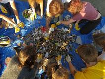Cleanup Sauber machen Umwelt Teamwork Sammeln Plastik Sensibilisierung Bewusstsein Umweltverschmutzung