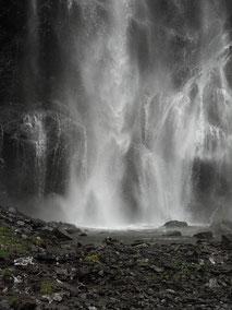 Stukje van de Bridal Veil Falls in Thompson Pass