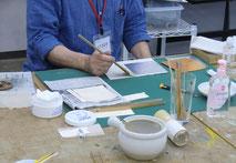日本画・古画領域で箔押しの説明