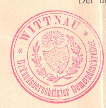 Stempel «Urkundsberechtigter Gemeindeschreiber» (1917, Privatarchiv Wittnau)