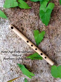 Stone Age Flute sidebown - Natural from  Northern Lights Flutes