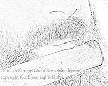 Anblsen der Bambusquerflöte - Copyright - Northern Lights Flutes