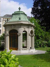"""Restaurierung Pavillion """" Haus zum Raben"""", Basel"""