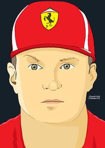 Kimi Räikkönen by Muneta & Cerracín
