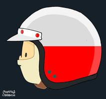 Helmet of Lorenzo Bandini by Muneta & Cerracín