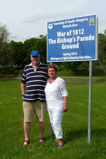 Harm & his wife Nina touring War of 1812 sites, May 2013