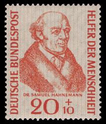 """Quelle Bild. """"DBP 1955 224 Samuel Hahnemann"""" von NobbiP"""