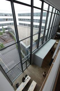 Bên trong đại học Mainz nhìn từ trên cao