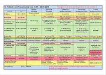 Fußballcamp-Wochenplan