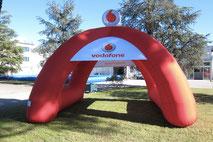 Stand Gonfiabile Spider, Gonfiabili Pubblicitari, Gonfiabile Vodafone, Inflatable Tent