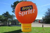 Mongolfiera Gonfiabile, Totem Gonfiabile, Gonfiabile Pubblicitario Aperol Spritz, Inflatable Totem, Hot-air Ballon