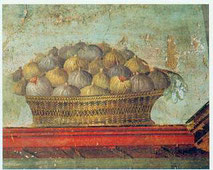 corbeille de figues dans la Rome antique image internet