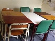 ▲3室ある教室の1部屋。整った教室で授業に集中できるよう工夫しています。