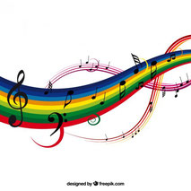 Quelle:colorful music background vector illustration by freepik.com