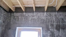 Plaster around joists for timber ceilings creates the required air tightness