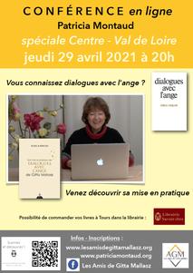 Conférence en ligne avec Patricia Montaud à l'occasion de la sortie de son nouveau livre « Une mise en pratique des Dialogues avec l'Ange de Gitta Mallasz »