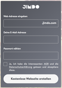 Jimdo Anmeldebox SignUp Widget für Affiliate