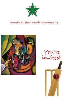 Geneva XI Stars 2012 Award Evening Invitation