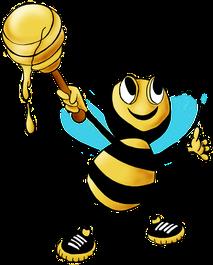 Biene mit Honig, Cartoon