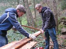 Matthias und Lars bei der Arbeit in Klingenberg