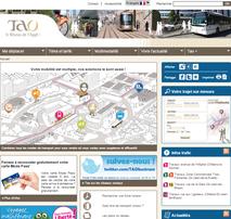 Capture d'écran du site du réseau de transport en commun TAO d'Orléans.