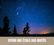 Une idée originale pour vos invités: offrir une étoile aux invités de votre mariage