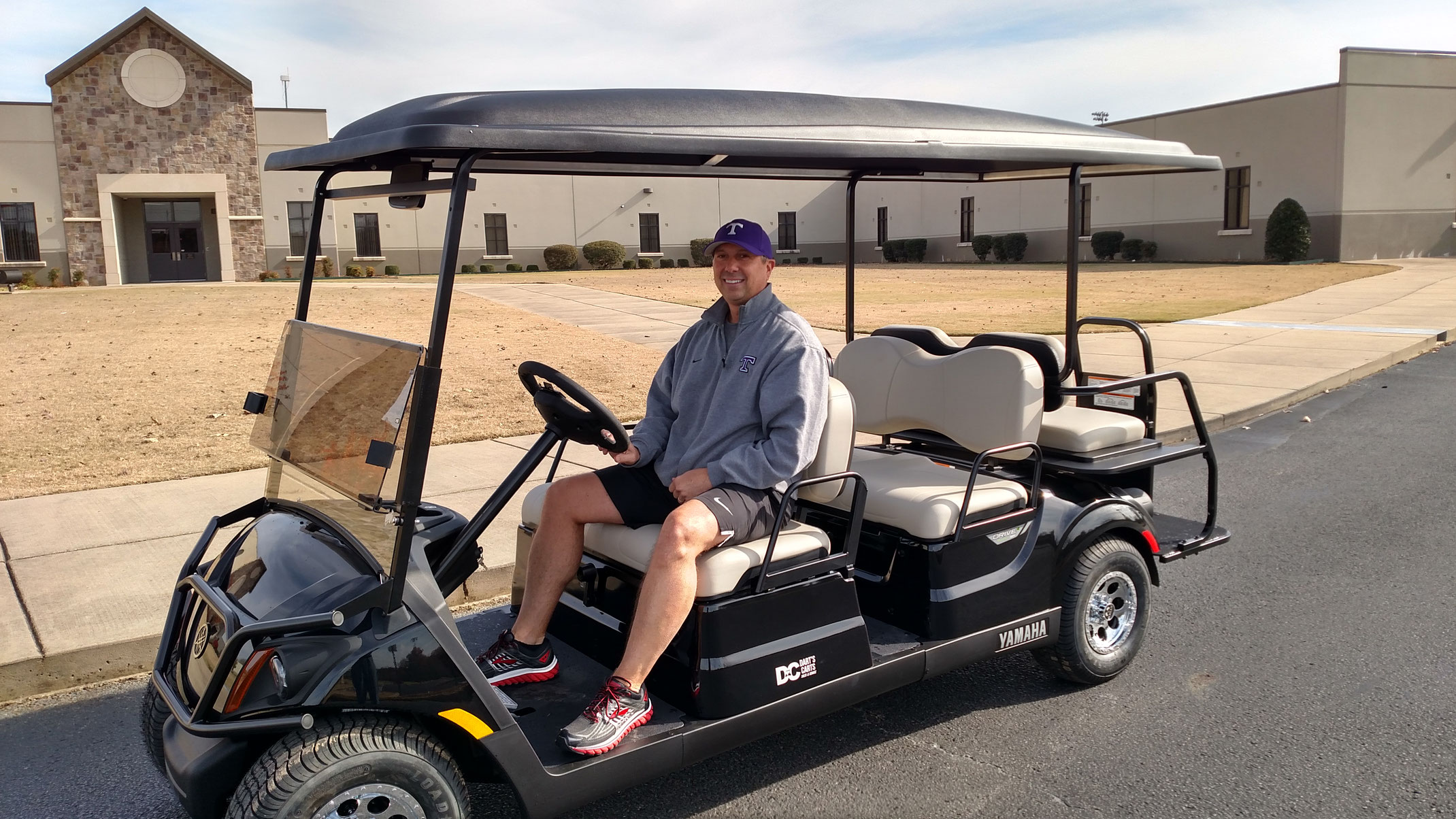 New Yamaha Limo Golf Car - Dart's Carts on black trailer, black tv, black toy hauler, black bus,