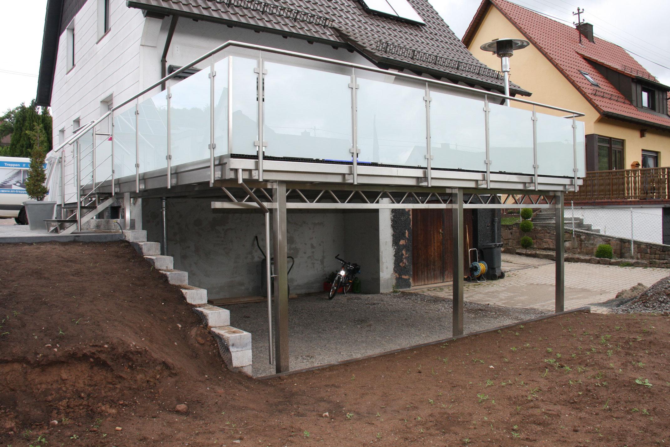 balkon nachtr glich anbauen an metallbau. Black Bedroom Furniture Sets. Home Design Ideas