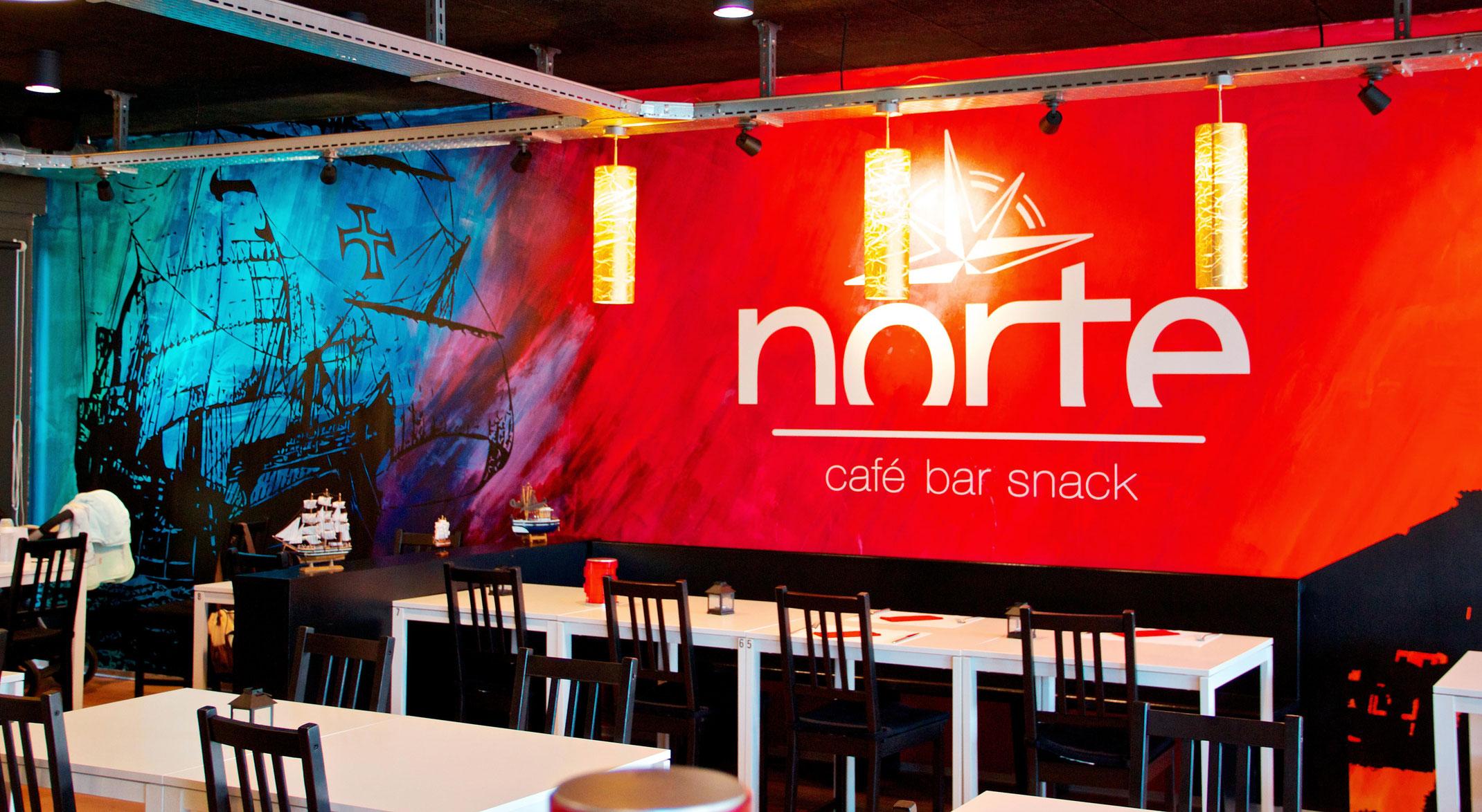 Wandgestaltung restaurant norte agentur f r wand for Raumgestaltung app