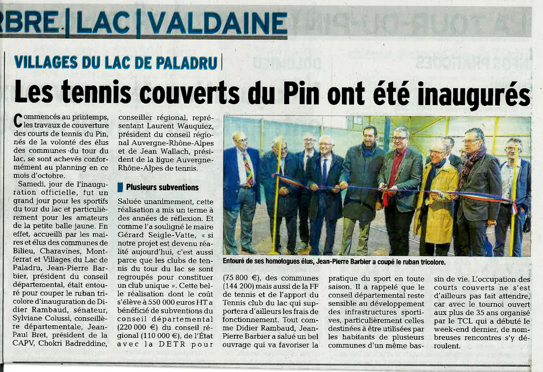 Point presse tennis club du lac for Club de tennis interieur saguenay