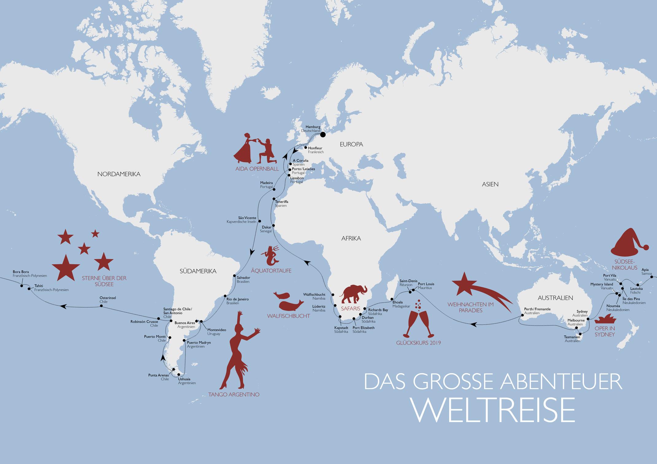 AIDAaura startet am Montag zu ihrer 117-tägigen Weltreise - Cruise Paper