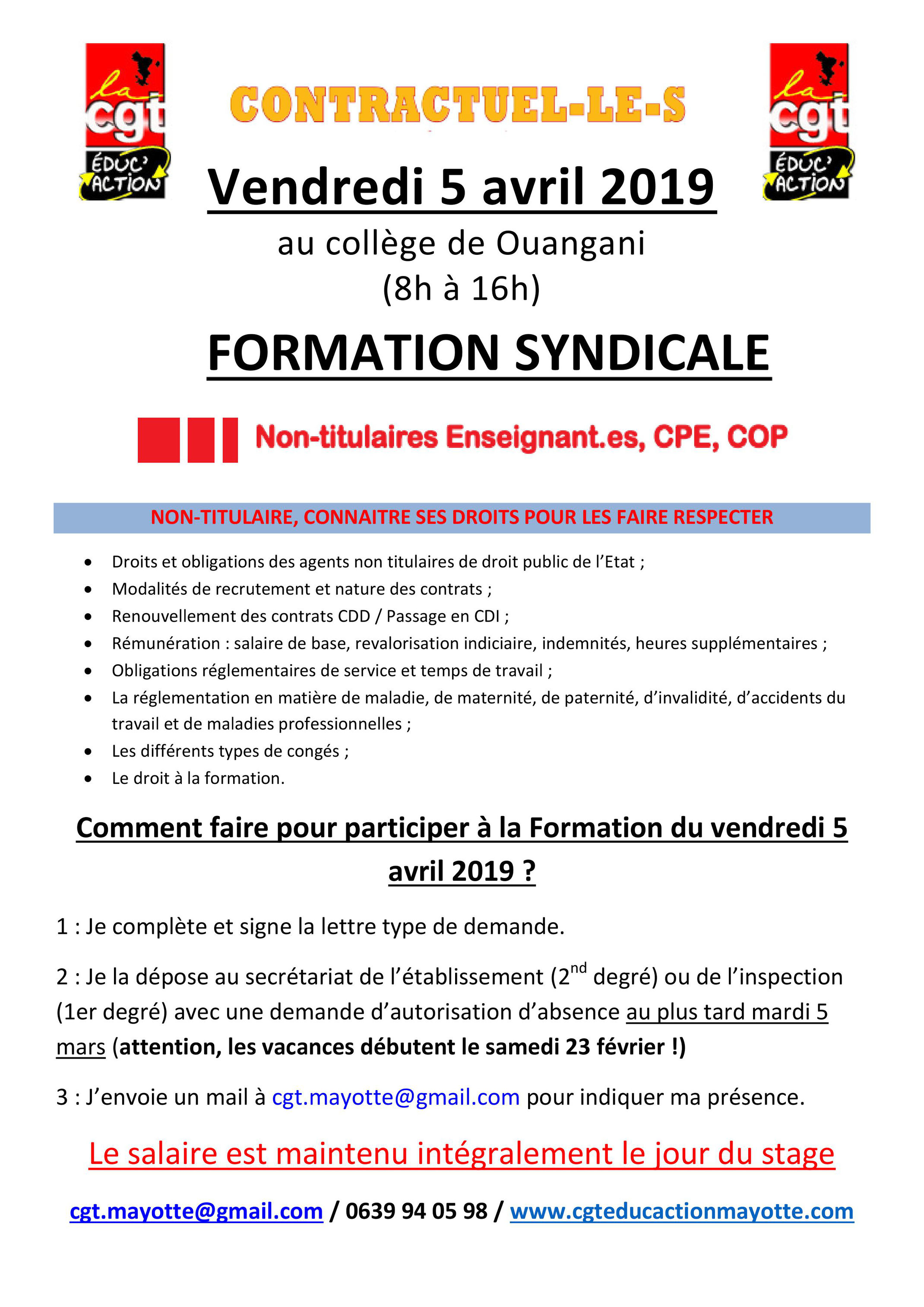Info Contractuels Cgt Educ Action Mayotte