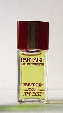 FABERGE - PARTAGE, MINIATURE EAU DE TOILETTE
