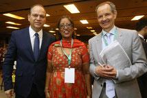 Links: Brasiliens Minister für Gesundheit, Ricardo Barroso