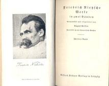Nietzsche Editionsgeschichte Entsthehungsgeschichte