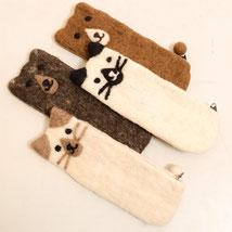 猫と熊のペンケース