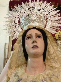 Virgen de la paz vestida por Eusebio Romero