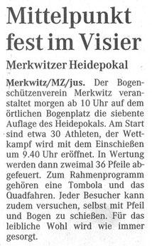 Artikel - 7. Heidepokal in Merkwitz 2006 - BSV Merkwitz