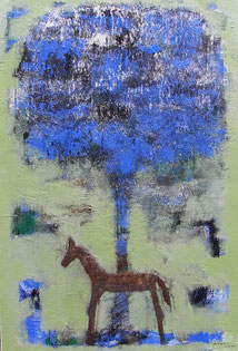 Feeling Tree  60.6×41cm Oil on canvas  2009