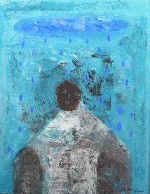 Love rain 26×20cm Aqyla on paperboard Private collection