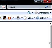 """Schritt 1: Auf dem Bildschirm oben rechts auf """"Extras"""" klicken"""
