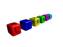 Bild zum Baustein Lernen lernen im Azubi Training Fit for Job, Würfel mit den Buchstaben L E R N E N