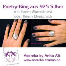 Poetry-Ring mit Wunschtext oder Ihrem Ehespruch