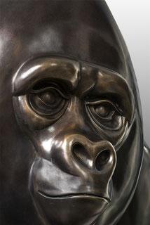 Frans van Straaten Bronze gorilla