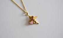 Halskette mit Engel und Herz
